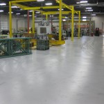 Gray fleck floor coating from Northland Coating